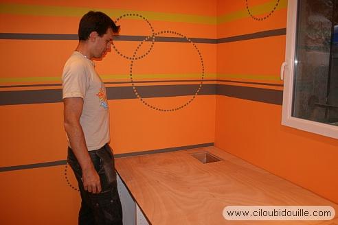 Beautiful Peinture Chambre Orange Et Gris Photos - House Design ...
