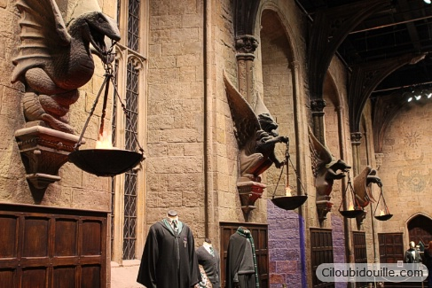 studios harry potter refectoire de Poudlard