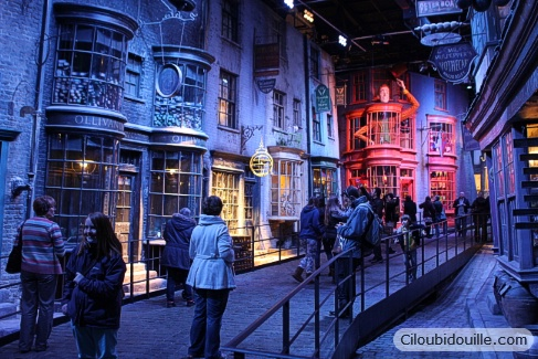 chemin de traverse studios harry potter