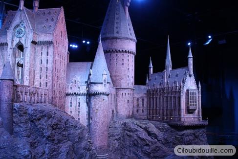 maquette chateau de poudlard studios harry potter