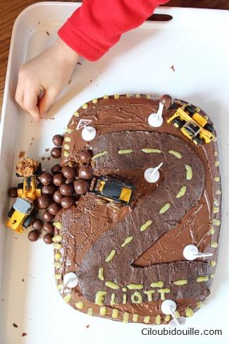 Gâteau Chantier Pour Petit Garçon Ciloubidouille