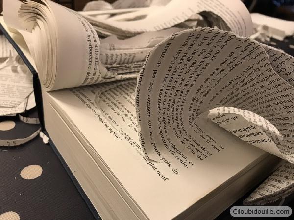 livre découpé