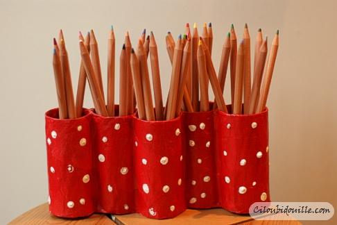 porte crayon maison