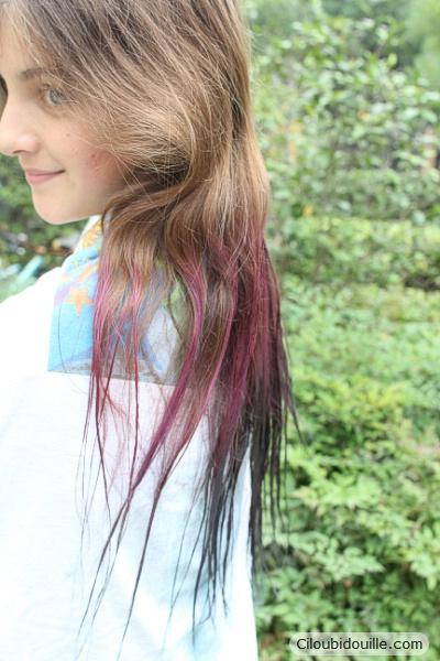 Coloration cheveux petite fille