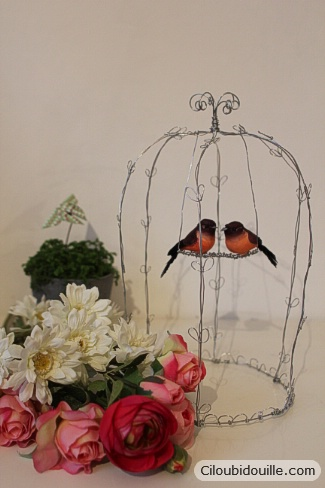 cage à oiseaux en fil de fer