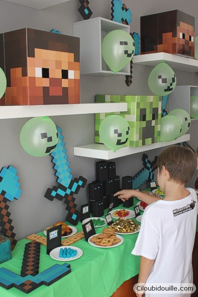 Anniversaire Minecraft Ciloubidouille