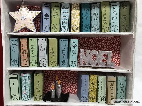 calendrier de l'avent livre bibliothèque