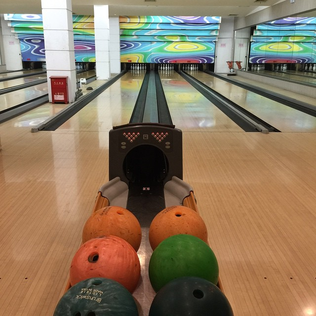 Le bowling à Wuhan, c'est ambiance Back to the future… ^^