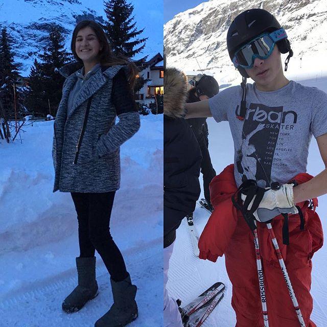 Ces deux-là sont partis au ski, les deux petits sont avec des copains/cousins... Bref, une semaine sans enfant commence ! #gniiii (A nous le rangement en profondeur de la maison ^^)