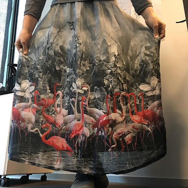 La thématique flamant rose se poursuit ^^ #jupefaitemaison #pasparmoi