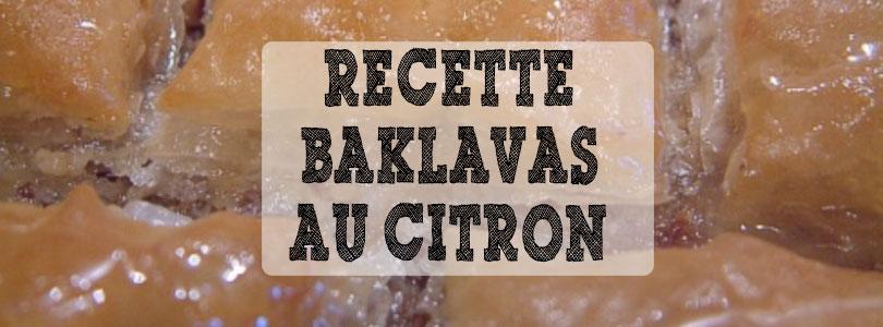 recette baklava au citron