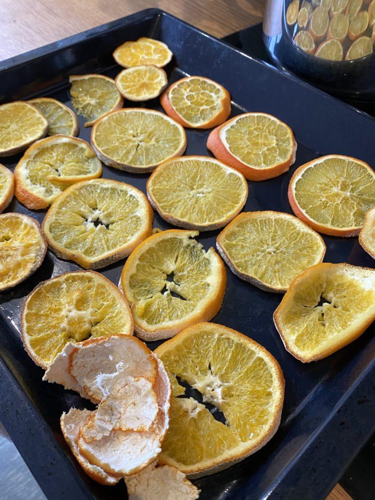 oranges séchées au four