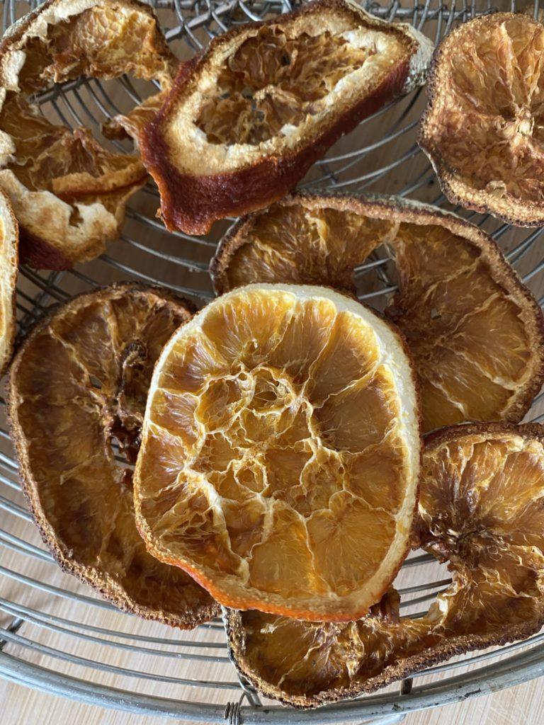 orange séchée au four