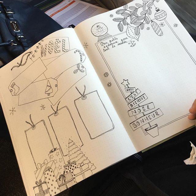 Page noel bullet journal