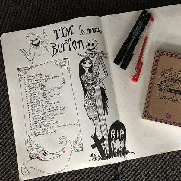 collection tim burton bullet journal