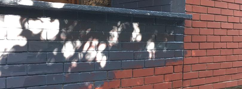 Repeindre une entr e de briques rouges ciloubidouille - Peindre un mur en brique ...