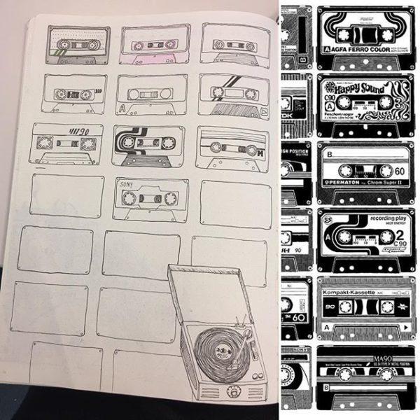 Collection musiques préférées pour bullet journal