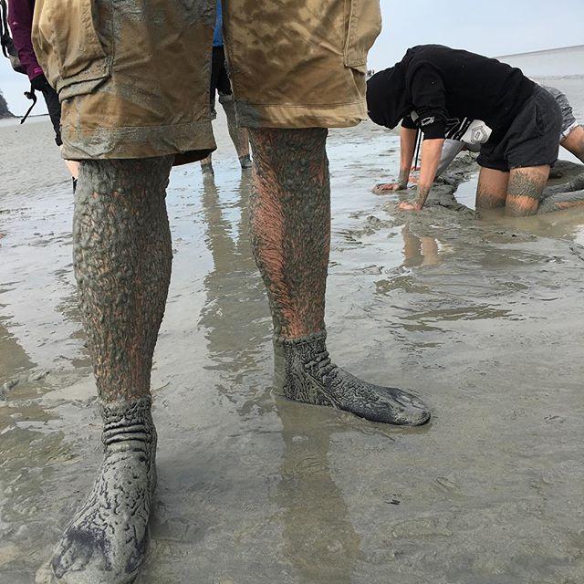 Bref on a testé les sables mouvants ^^ #montsaintmichel #ciloubidouillesorties