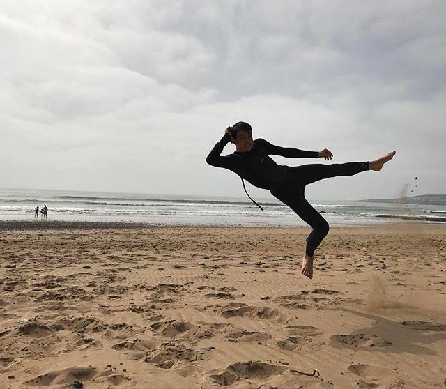 La plage est à nous ! Surf au programme :) #essaouira #ciloubidouilleauMaroc
