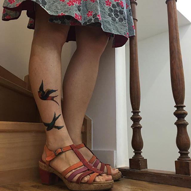 La saison des collants se termine. Celle des tatouages éphémères se profile... #ciloubidouilletattoo #tatouageephemere