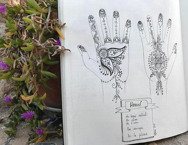 Le petit dessin du jour, inspiré de notre séance de henné #ciloubidouilleauMaroc #ciloudrawings #ciloubidouilledrawing