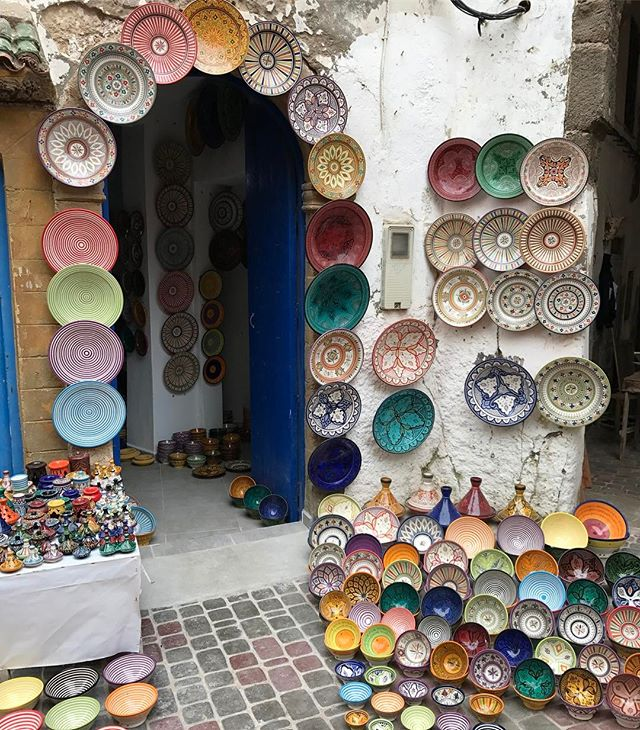 Les jolies assiettes du Maroc #essaouira #ciloubidouilleauMaroc