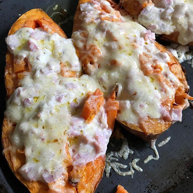 Patates douces rôties et farcies... c pas instagramable mais c trop bon !