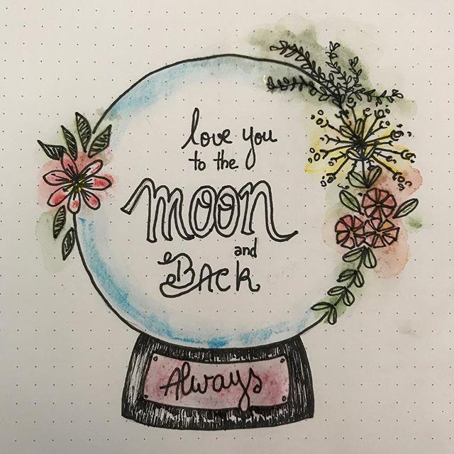 Pour ceux qui me manquent... la lune n'est pas si loin... #ciloudrawings #ciloubidouilledrawing