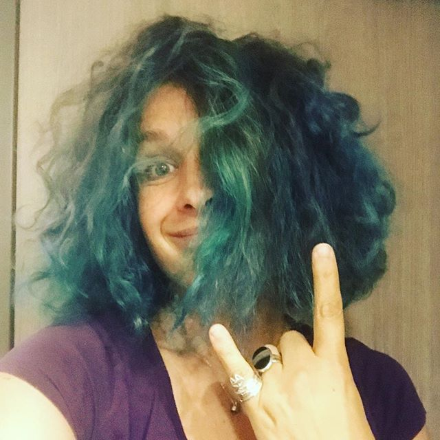 Blue hair don't care (and crazy hair neither do)