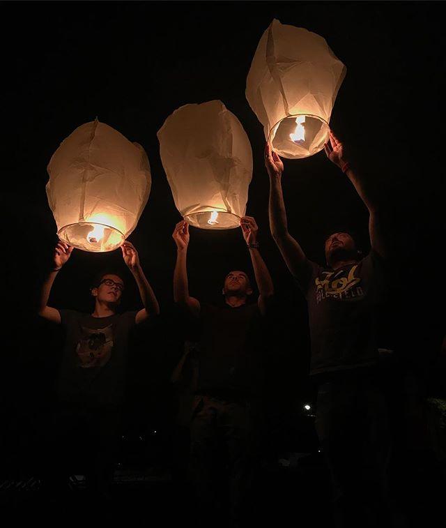 Les lampions d'hier soir... #mes40ans