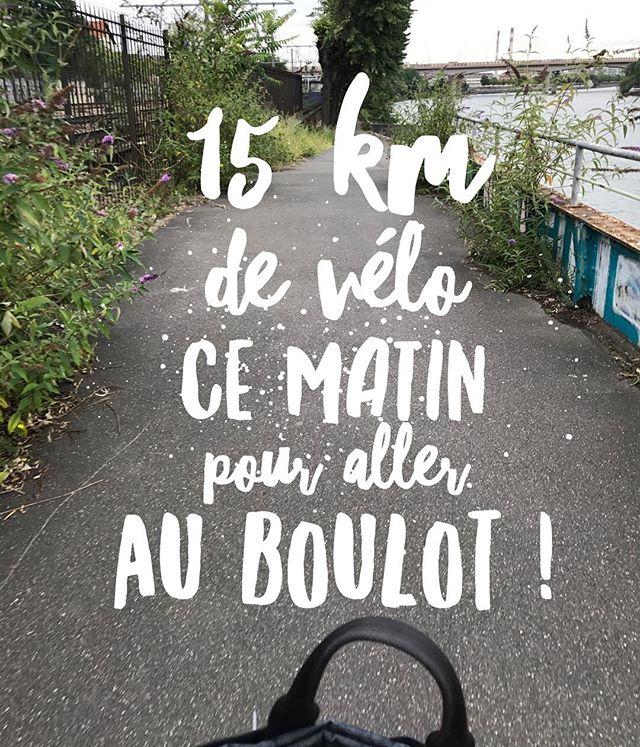 Je suis super contente ! Je me suis enfin décidée à prendre mon vélo pour aller au boulot ! J'ai suivi la Seine, ce qui me fait faire un détour mais j'étais seule, sans voiture ! Quelle joie ! Faut que je refasse ça le plus souvent possible parce que ça me file la patate !