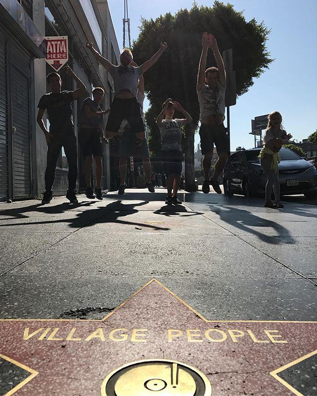 Les village people sur walk of fame #losangeles #ciloubidouilleinUSA