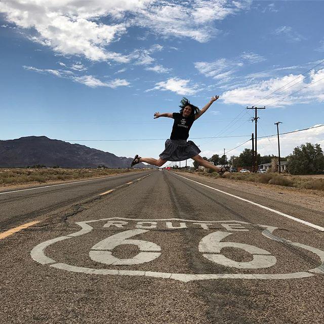 Jump mythique sur route mythique #route66 #ciloubidouilleinUSA