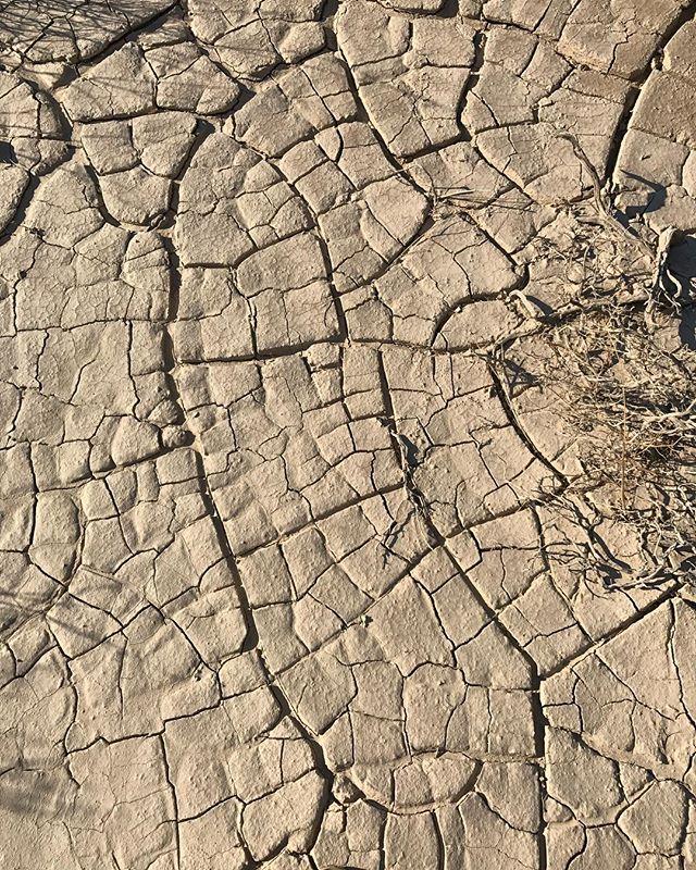 Death Valley porte son nom un poil morbide à cause des premiers colons qui la traversaient difficilement... partout des fentes de dessification de l'argile, comme autant de preuves (s'il en fallait) qu'il ne pleut pas beaucoup... #deathvalley #ciloubidouilleinUSA