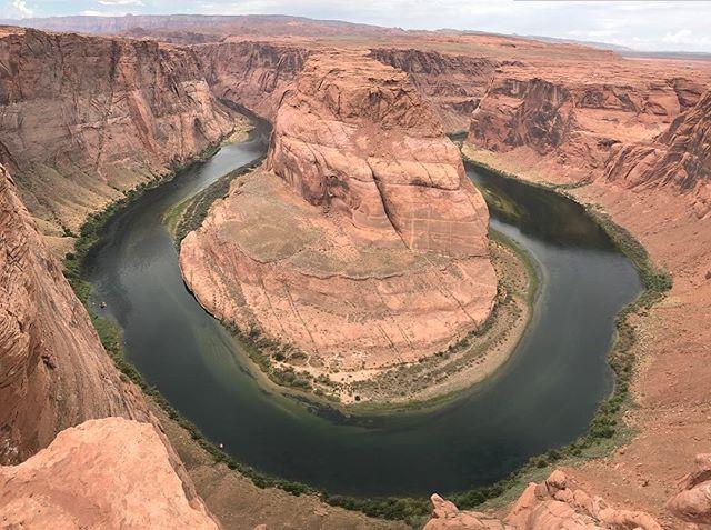 Et voilà la fameuse boucle en fer à cheval du Colorado #horseshoe #ciloubidouilleinUSA