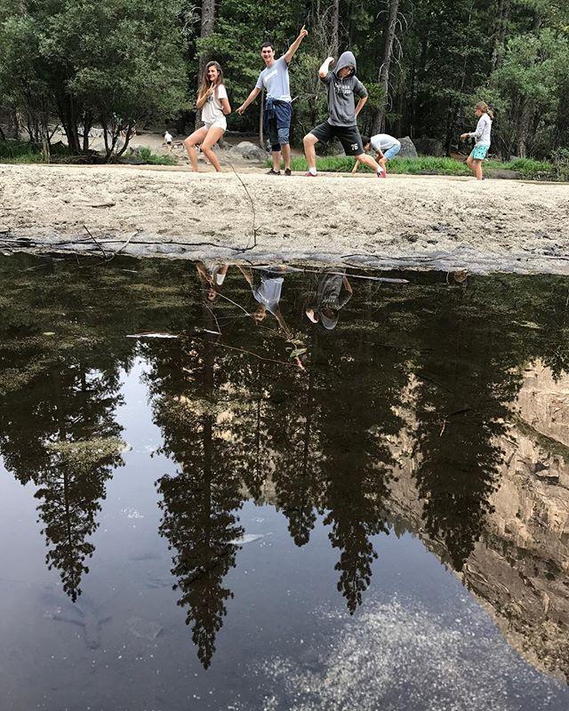 On fait les andouilles à Mirror Lake #yosemite #yosemitepark #ciloubidouilleinUSA