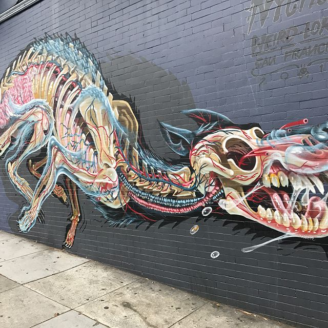 Galerie de street art trouvés dans la petite Clarion Alley, connue pour ses grafs artistiques et militants.