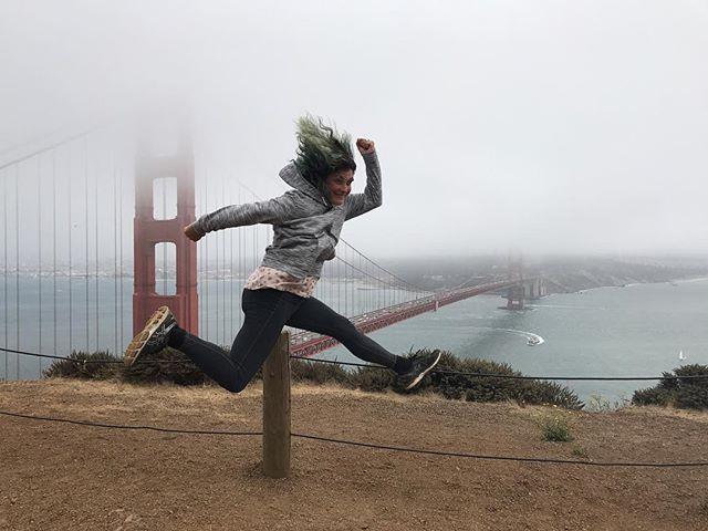 Un vent à décorner les boeufs devant le Golden Gate ! #goldengate #sanfrancisco #ciloubidouilleinUSA
