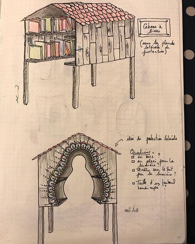 Mon projet de bibliothèque de rue se monte doucement :) #ciloudrawings #ciloubidouilledrawing #booksbox #freelibrary