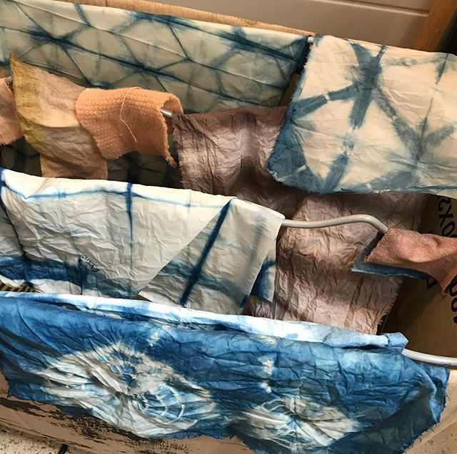 Article sur mon atelier de teinture végétale en ligne sur le blog. Poke @ourwholeconcept :)