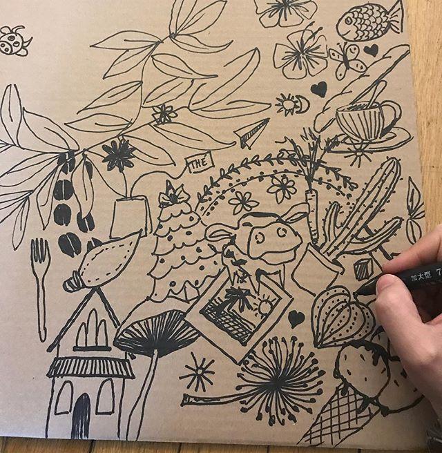 Préparation du grand jeu du réveillon #doodle #surprise #ciloudrawings #ciloubidouilledrawing
