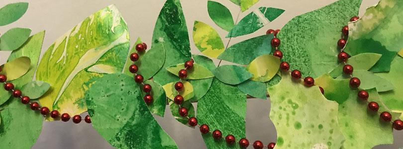 Sapin de Noël en feuilles découpées