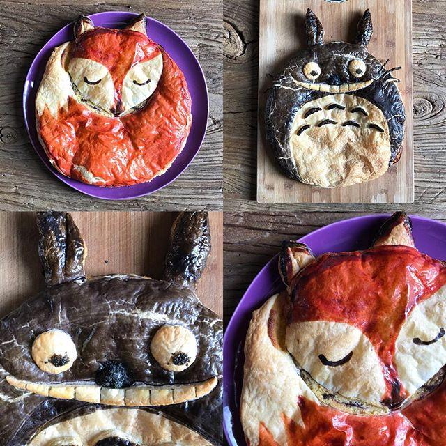 Ca parle galettes des rois Totoro et Renard sur mon blog :) #galettedesrois #totoro #renard #totorocake #foxcake