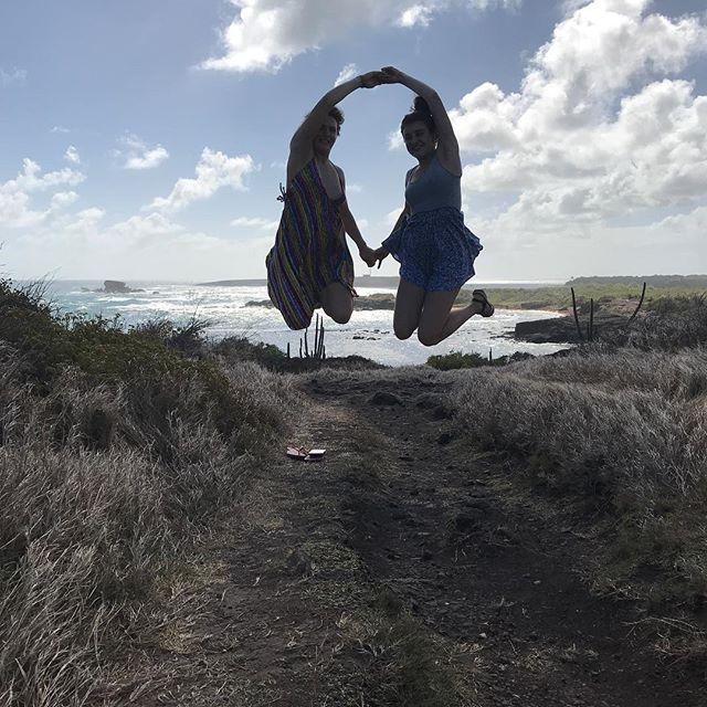 Ma soeur et ma fille, les fausses jumelles :) #cilouenmartinique #savanedespetrifications