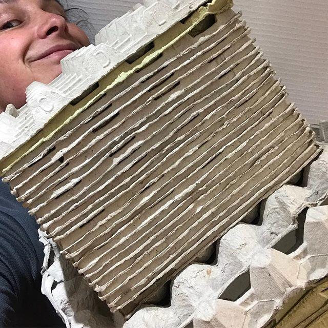 La fille qui stockait au cas où... (elle aurait envie de faire du papier mâché par exemple ^^) #photopasvegan #coqueenstock
