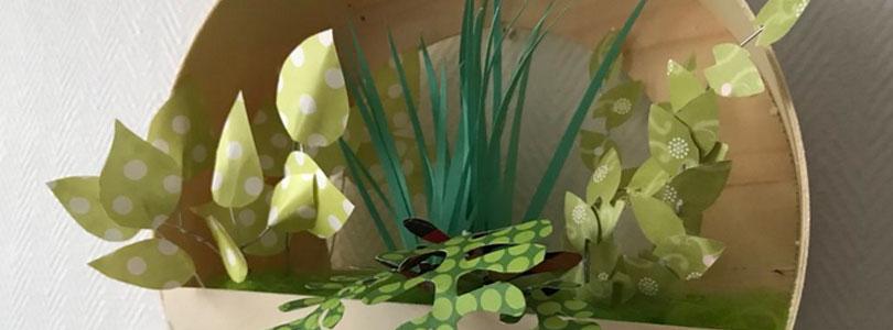 Fausses plantes murales pour décorer