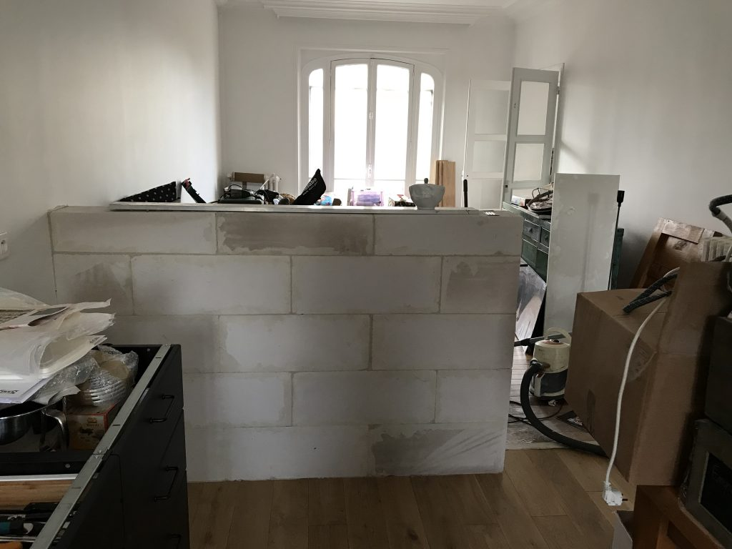 muret bar à construire