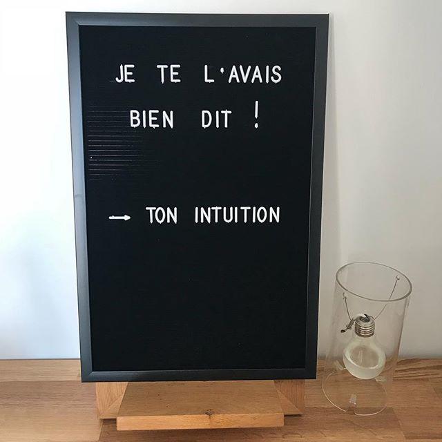 Bref, je commence à installer mon bureau ^^ #citation #intuition #suivresesreves