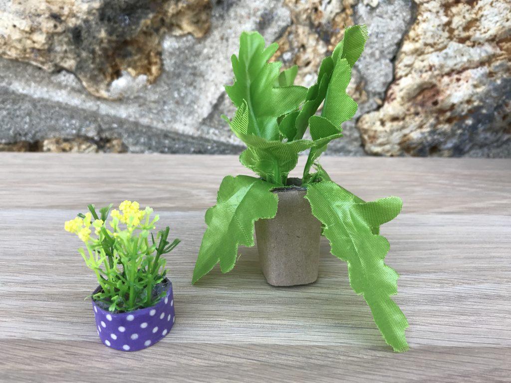 Maison de poupée - plantes vertes DIY