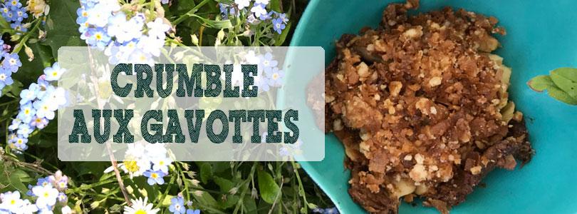 recette de crumble aux gavottes